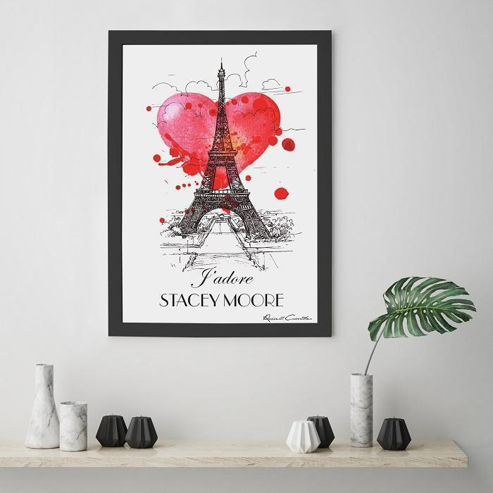 Personalised J'Adore Framed Print-OurPersonalisedGifts.com