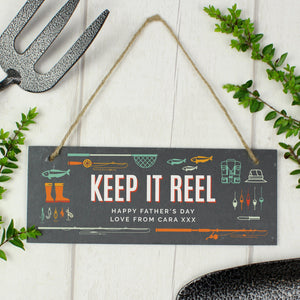 Personalised Keep It Reel Printed Hanging Slate-OurPersonalisedGifts.com