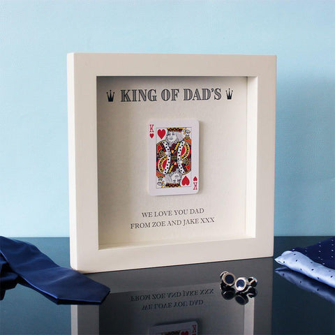 Personalised King of Dads Hand Finished Frame-OurPersonalisedGifts.com