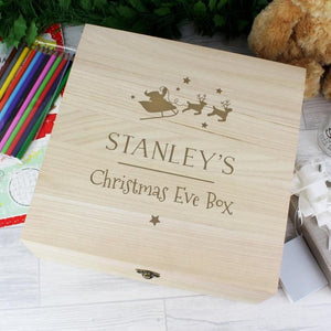 Personalised Large Wooden Christmas Eve Box-OurPersonalisedGifts.com