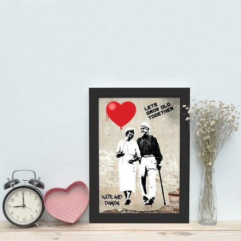 Personalised Let's Grow Old Together Framed Print-OurPersonalisedGifts.com