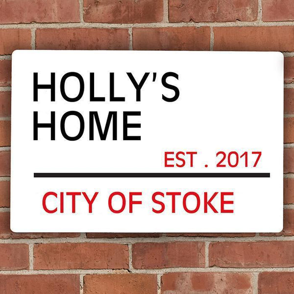 Personalised London Street Sign-OurPersonalisedGifts.com