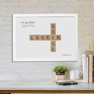 Personalised Love Tiles Framed Print-OurPersonalisedGifts.com