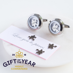 Personalised Love You To Pieces Cufflinks-OurPersonalisedGifts.com