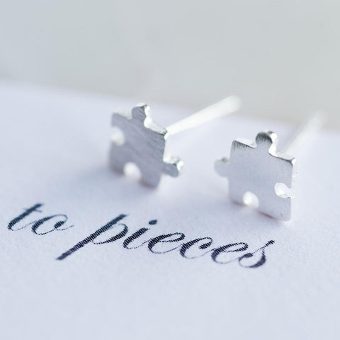 Personalised Love You To Pieces Earrings-OurPersonalisedGifts.com