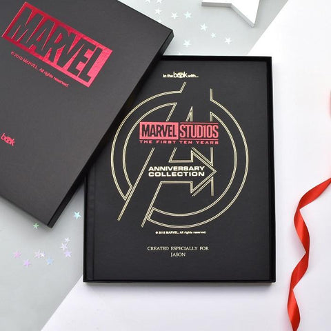 Personalised Marvel 10 Year Anniversary Collection Deluxe Book-OurPersonalisedGifts.com