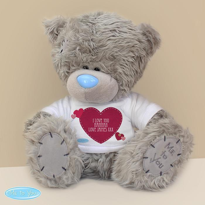 Personalised Me To You Bear with Heart T-Shirt-OurPersonalisedGifts.com