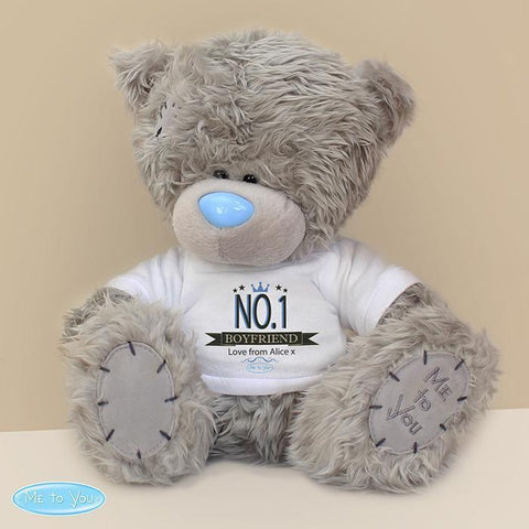 Personalised Me to You Bear with No.1 T-Shirt-OurPersonalisedGifts.com