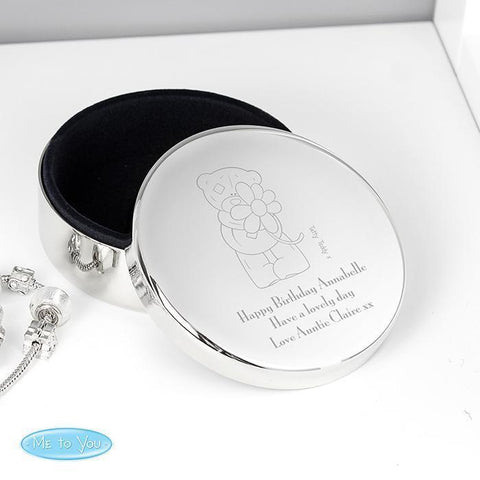 Personalised Me to You Flower Round Trinket Box-OurPersonalisedGifts.com