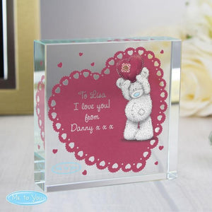 Personalised Me To You Heart Large Crystal Token-OurPersonalisedGifts.com