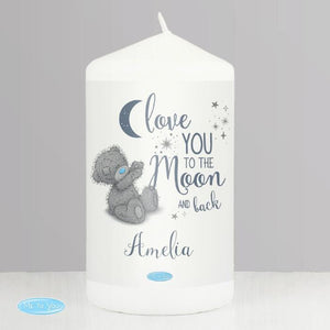 Personalised Me to You Love You to the Moon and Back Candle-OurPersonalisedGifts.com