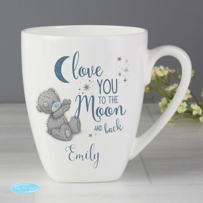 Personalised Me to You Love You to the Moon and Back Latte Mug-OurPersonalisedGifts.com
