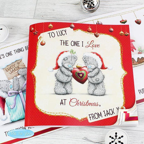 Personalised Me to You The One I Love at Christmas Poem Book-OurPersonalisedGifts.com