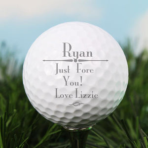 Personalised Message Golf Ball-OurPersonalisedGifts.com