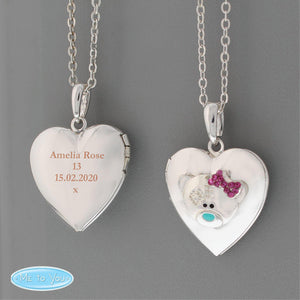 Personalised Message Me To You Silver Tone Heart Locket-OurPersonalisedGifts.com
