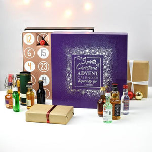 Personalised Mixed Spirits Advent Box-OurPersonalisedGifts.com