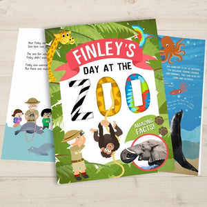 Personalised My Day at the Zoo Book-OurPersonalisedGifts.com