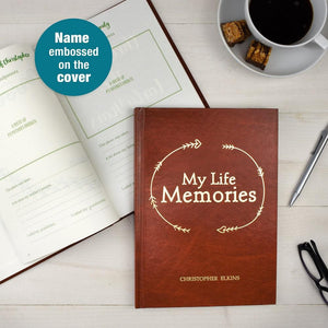Personalised My Life Memories Journal-OurPersonalisedGifts.com