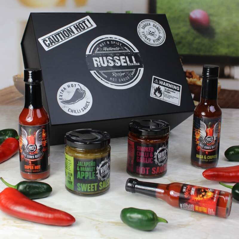 Personalised Naga Hot Sauce Gift Box-OurPersonalisedGifts.com