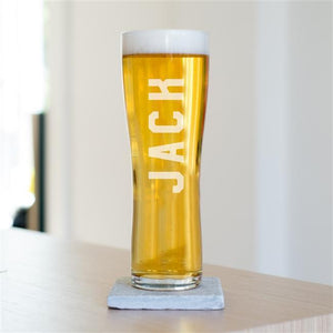 Personalised Name Beer Glass-OurPersonalisedGifts.com