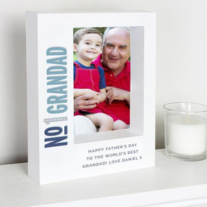 Personalised No.1 Box Photo Frame-OurPersonalisedGifts.com