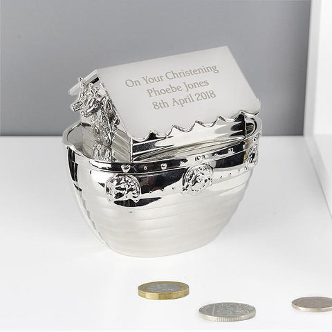 Personalised Noah's Ark Moneybox-OurPersonalisedGifts.com
