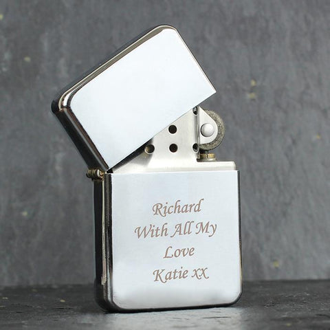 Personalised Original Silver Lighter-OurPersonalisedGifts.com