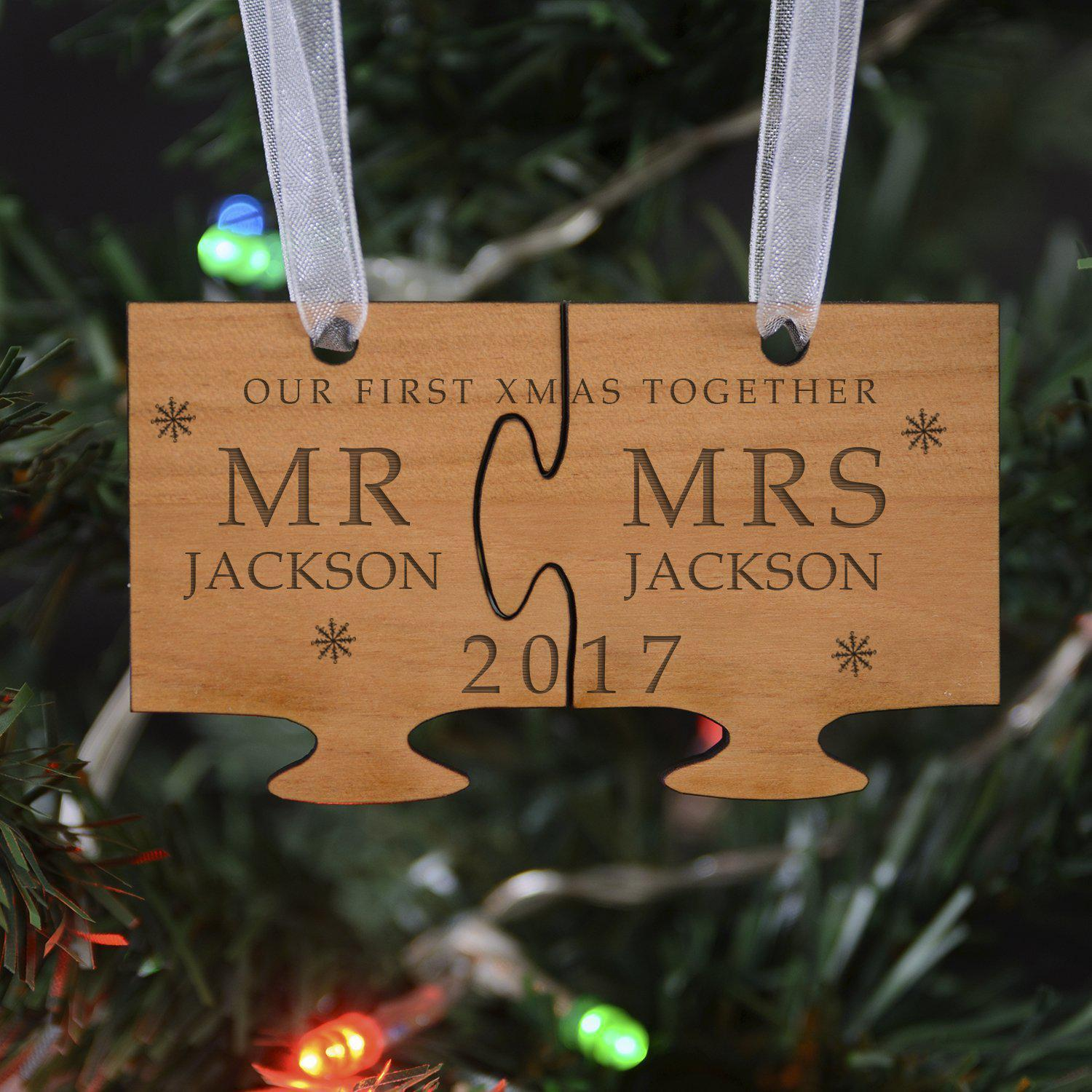 Personalised Our First Christmas Decoration-OurPersonalisedGifts.com