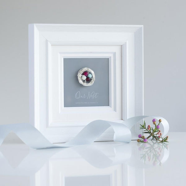 Personalised Our Nest Birthstone Frame-OurPersonalisedGifts.com