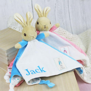 Personalised Peter Rabbit Snuggle Blanket-OurPersonalisedGifts.com