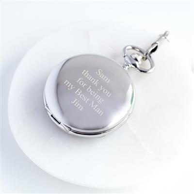 Personalised Pocket Watch & Gift Box-OurPersonalisedGifts.com