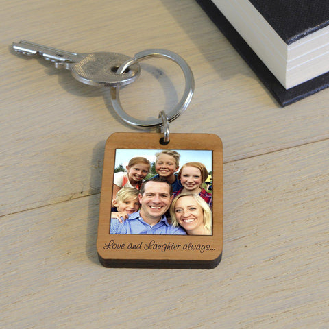 Personalised Photo Upload Wooden Key Ring-OurPersonalisedGifts.com