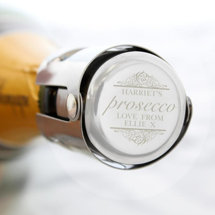 Personalised Prosecco Bottle Stopper-OurPersonalisedGifts.com