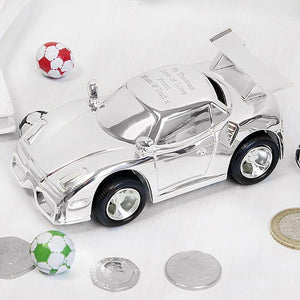 Personalised Racing Car Moneybox-OurPersonalisedGifts.com