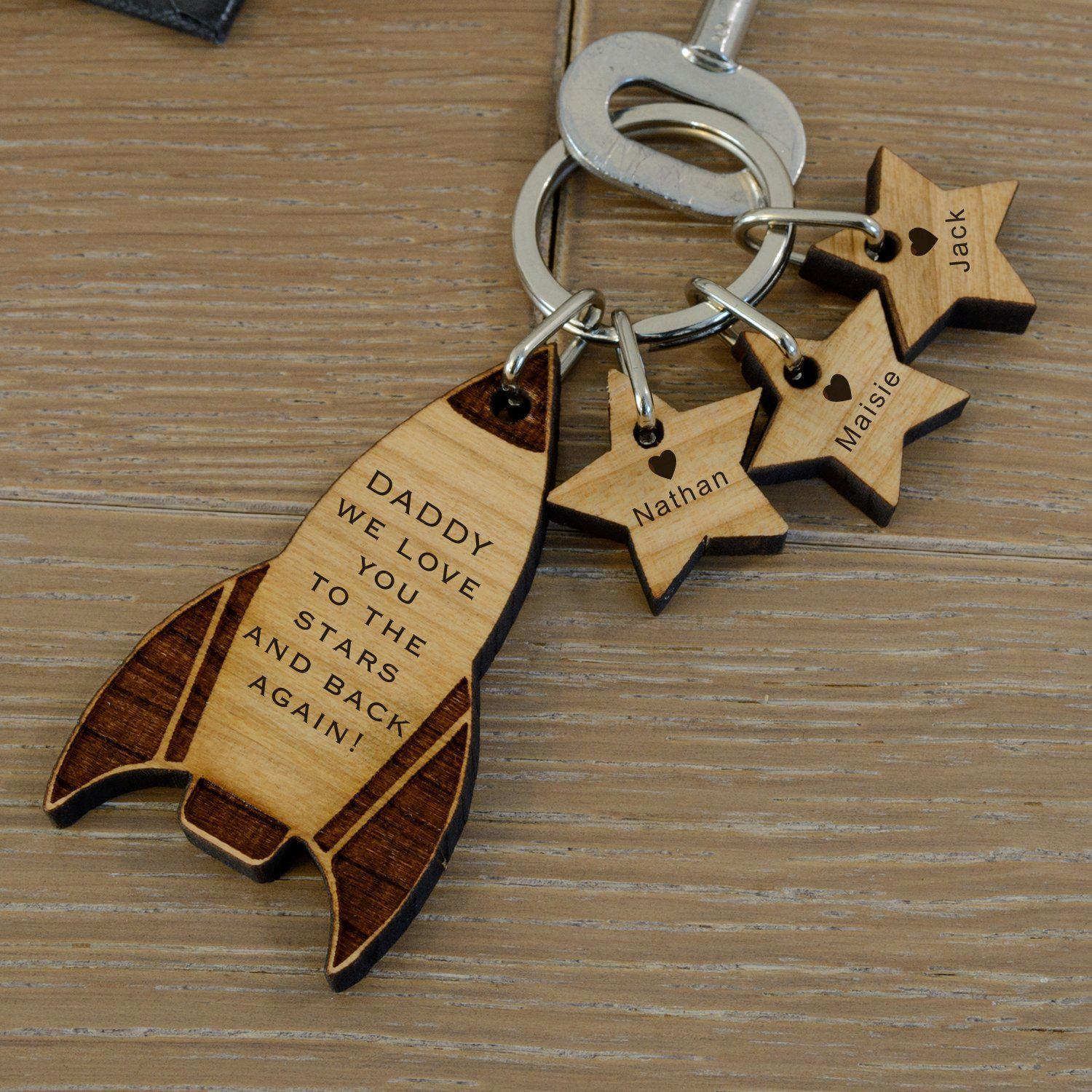Personalised Rocket Keyring-OurPersonalisedGifts.com