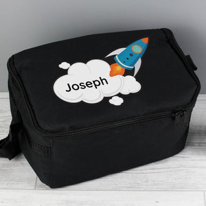 Personalised Rocket Lunch Bag-OurPersonalisedGifts.com