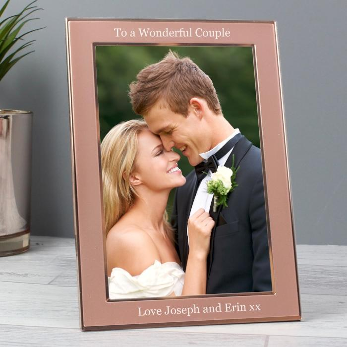 Personalised Rose Gold 4x6 Frame-OurPersonalisedGifts.com