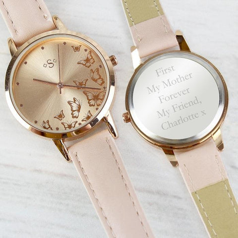 Personalised Rose Gold Ladies Watch-OurPersonalisedGifts.com