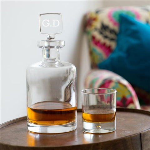 Personalised Round Glass Decanter-OurPersonalisedGifts.com