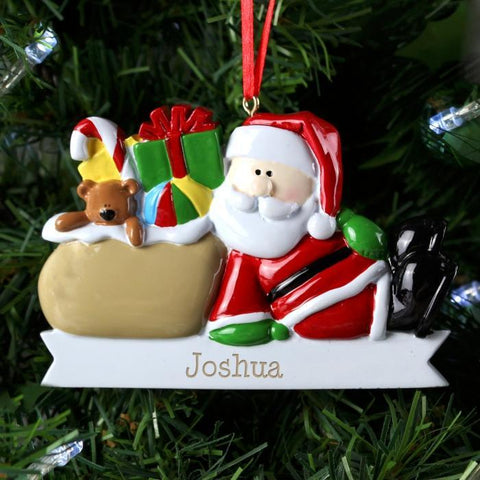 Personalised Santa Claus Resin Decoration-OurPersonalisedGifts.com
