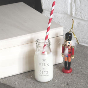 Personalised Santa's Milk Bottle-OurPersonalisedGifts.com