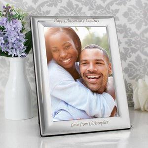 Personalised Silver Plated Photo Frame-OurPersonalisedGifts.com