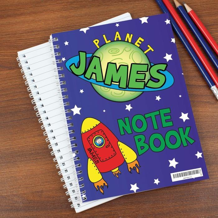 Personalised Space Notebook-OurPersonalisedGifts.com