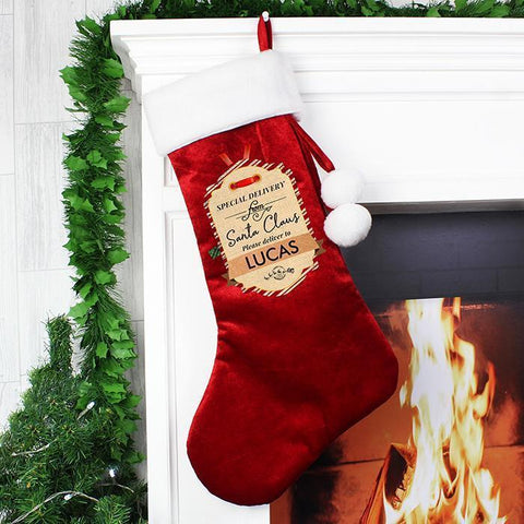 Personalised Special Delivery Luxury Stocking-OurPersonalisedGifts.com