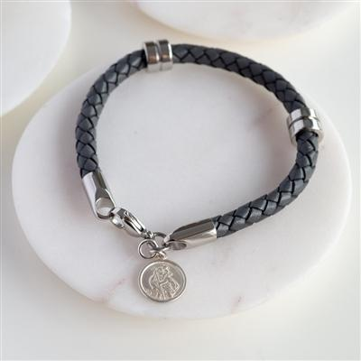 Personalised St Christopher Wristband-OurPersonalisedGifts.com