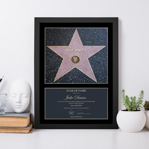 Personalised Star of Fame Framed Print-OurPersonalisedGifts.com