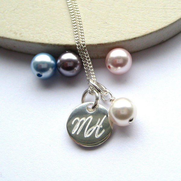 Personalised Swarovski Script Necklace-OurPersonalisedGifts.com