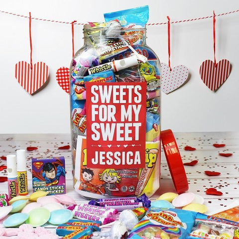 Personalised Sweets For My Sweet Large Jar-OurPersonalisedGifts.com