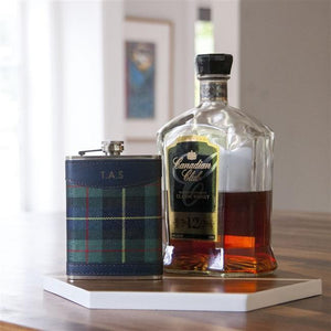 Personalised Tartan Hip Flask-OurPersonalisedGifts.com