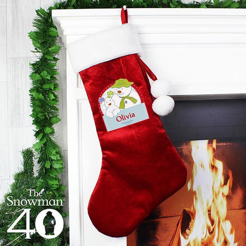 Personalised The Snowman and the Snowdog Luxury Stocking-OurPersonalisedGifts.com